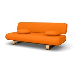 Allerum Sofa bed Mandarin Orange Panama Cotton