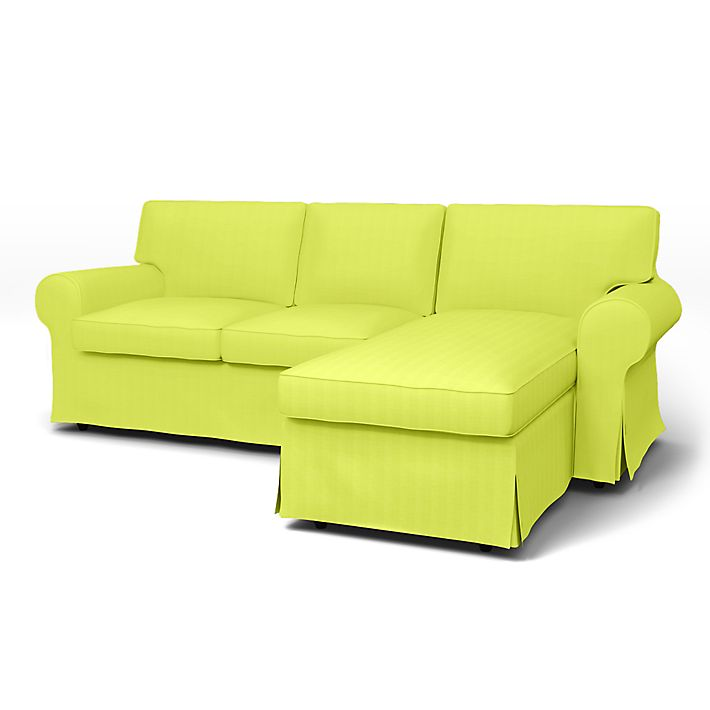 Ektorp 2 Seater Sofa With Chaise Longue Cover With Piping Bemz