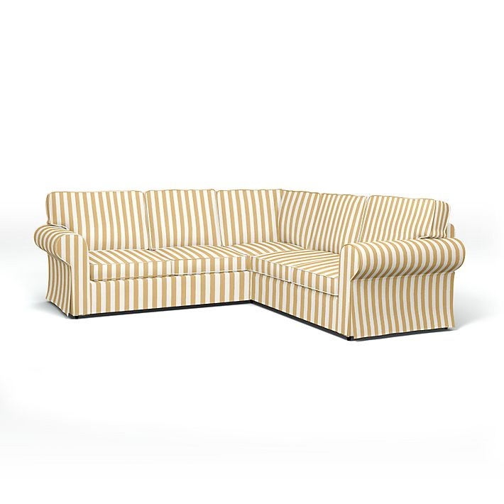 Ektorp Corner Sofa Cover With Piping Bemz